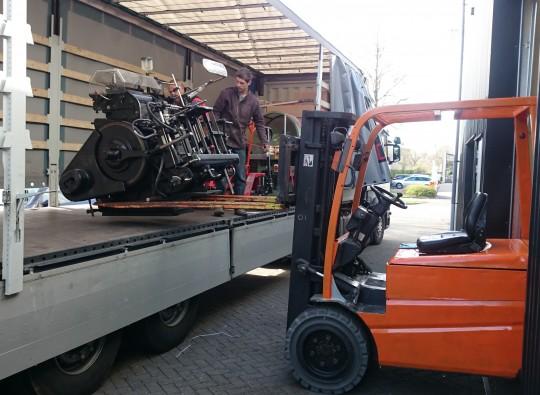 Machine transport, drukpersen